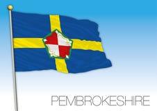 Bandera de Pembrokeshire, Reino Unido Imágenes de archivo libres de regalías