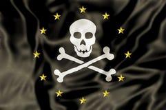 Bandera de pirata de Europa ilustración del vector
