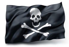 Bandera de pirata Jolly Roger Fotos de archivo libres de regalías