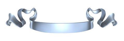Bandera de plata de la voluta Imagen de archivo libre de regalías