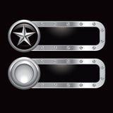 Bandera de plata del metal de la estrella Fotos de archivo libres de regalías