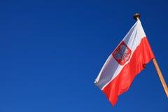 Bandera de Polonia Imagen de archivo libre de regalías