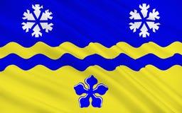 Bandera de príncipe George en Columbia Británica, Canadá ilustración del vector