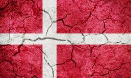 Bandera de Reino de Dinamarca Imágenes de archivo libres de regalías