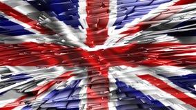 Bandera de Reino Unido, animación stock de ilustración