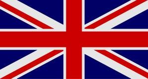 Bandera de Reino Unido de Gran Bretaña e Irlanda del Norte Bandera BRITÁNICA aka Union Jack Ilustración del vector stock de ilustración