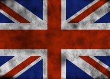 Bandera de Reino Unido del Grunge stock de ilustración