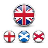 Bandera de Reino Unido - Inglaterra, Escocia, Irlanda Union Jack Fotos de archivo
