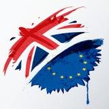 Bandera de Reino Unido y de unión europea libre illustration