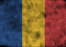 Bandera de República eo Tchad del Grunge Imagen de archivo