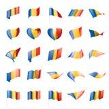 Bandera de República eo Tchad, ejemplo del vector Imagen de archivo libre de regalías