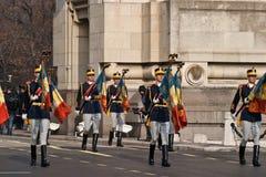 Bandera de Rumania Imágenes de archivo libres de regalías