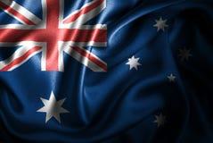 Bandera de seda del satén de Austrailia stock de ilustración