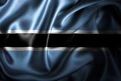 Bandera de seda del satén de Botswana ilustración del vector