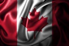 Bandera de seda del satén de Canadá libre illustration