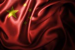 Bandera de seda del satén de China ilustración del vector