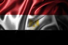 Bandera de seda del satén de Egipto ilustración del vector