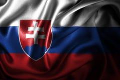 Bandera de seda del satén de Eslovaquia stock de ilustración