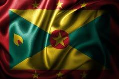 Bandera de seda del satén de Grenada ilustración del vector