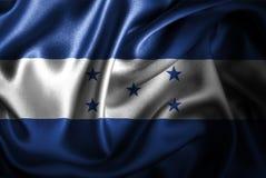 Bandera de seda del satén de Honduras stock de ilustración