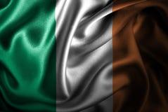Bandera de seda del satén de Irlanda stock de ilustración