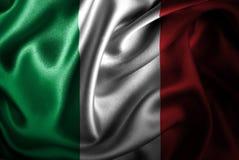 Bandera de seda del satén de Italia stock de ilustración