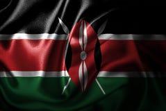 Bandera de seda del satén de Kenia libre illustration