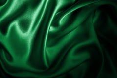 Bandera de seda del satén de Libia ilustración del vector