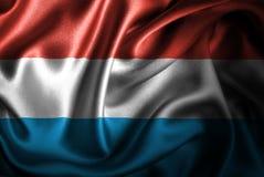 Bandera de seda del satén de Luxemburgo libre illustration
