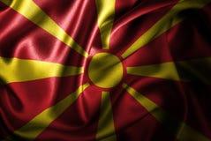Bandera de seda del satén de Macedonia stock de ilustración