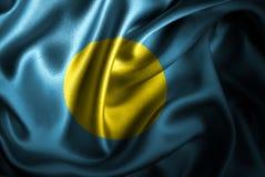 Bandera de seda del satén de Palau ilustración del vector