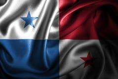 Bandera de seda del satén de Panamá ilustración del vector