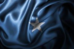 Bandera de seda del satén de Somalia ilustración del vector
