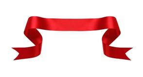 Bandera de seda roja Foto de archivo libre de regalías