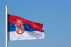 Bandera de Serbia Foto de archivo