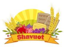 Bandera de Shavuot con el fondo Imagen de archivo