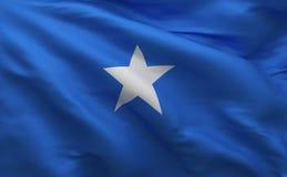 Bandera de Somalia, fondo material de seda de Somalia, representación 3D ilustración del vector