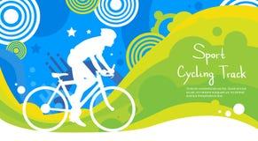 Bandera de Sport Competition Colorful del atleta de la pista para bicicletas Foto de archivo libre de regalías