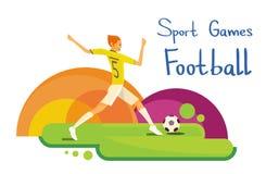 Bandera de Sport Competition Colorful del atleta del futbolista Imagen de archivo