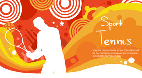 Bandera de Sport Competition Colorful del atleta del jugador de tenis Imagen de archivo