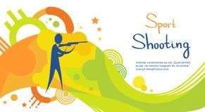 Bandera de Sport Competition Colorful del atleta del tiroteo Imágenes de archivo libres de regalías