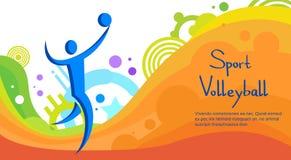 Bandera de Sport Competition Colorful del atleta del voleibol Foto de archivo
