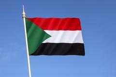 Bandera de Sudán Imagen de archivo libre de regalías