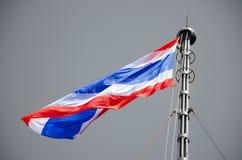 Bandera de Tailandia en fondo del negro y del whie Imagen de archivo libre de regalías