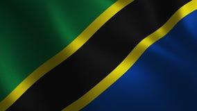 Bandera de Tanzania que agita 3d abstraiga el fondo Animación del lazo