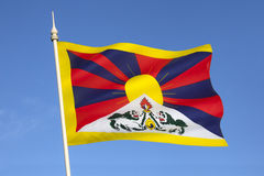 Bandera de Tíbet libre Fotografía de archivo