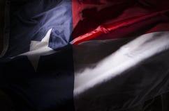 Bandera de Tejas que agita Imagenes de archivo