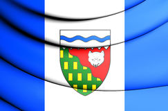 Bandera de territorios del noroeste, Canadá Imágenes de archivo libres de regalías
