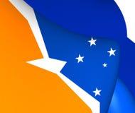 Bandera de Tierra del Fuego, la Argentina Imágenes de archivo libres de regalías