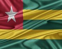 Bandera de Togo con una textura de seda brillante Imagen de archivo